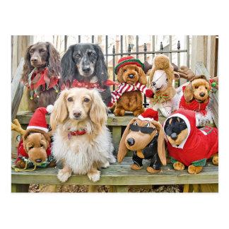 Carte Postale Noël réunit la famille entière