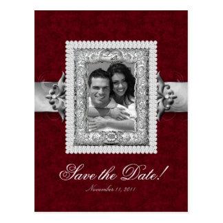 Carte Postale Noël sauvent le rouge 2 de bijoux de mariage de