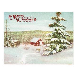 Carte Postale Noël vintage en Norvège, 1950