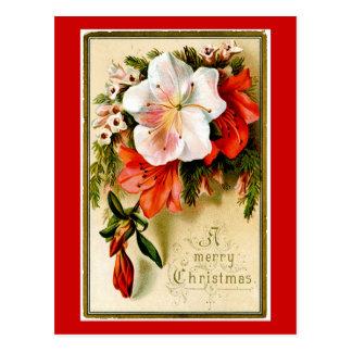 Carte Postale Noël vintage Lilly
