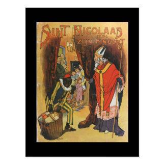 Carte Postale Noël vintage Sint Nicolaas