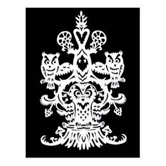 Carte Postale Noir creux du ` s de hibou