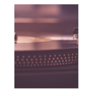 Carte Postale Noir d'équipement de vinyle de disque de musique