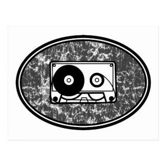 Carte Postale Noir et blanc d'enregistreur à cassettes