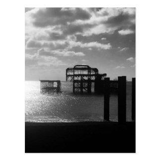 Carte Postale Noir et blanc occidentaux de pilier de Brighton