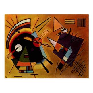 Carte postale noire et violette de Kandinsky