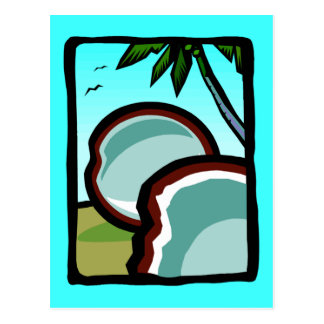 Carte Postale Noix de coco et paumes