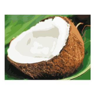 Carte Postale Noix de coco hawaïennes fraîches