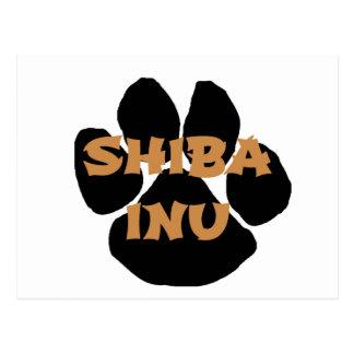 Carte Postale nom paw.png d'inu de shiba