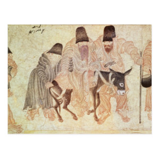 Carte Postale Nomades mongols avec un âne, XVème siècle
