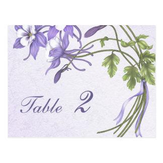 Carte Postale Nombre de Tableau de bouquet de Columbine (carte