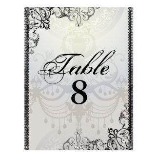Carte Postale Nombre élégant de lustre et de Tableau de