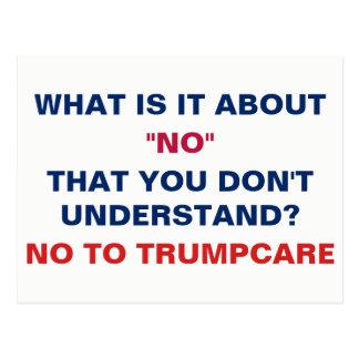 Carte Postale Non à Trumpcare