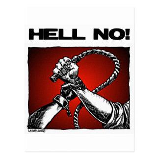 Carte Postale Non ! Anti art de discrimination d'esclavage