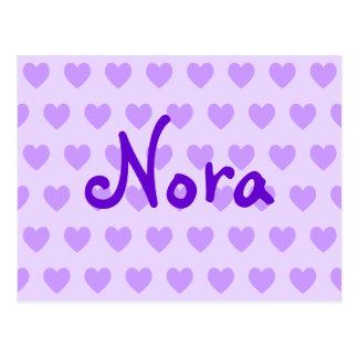 Carte Postale Nora dans le pourpre