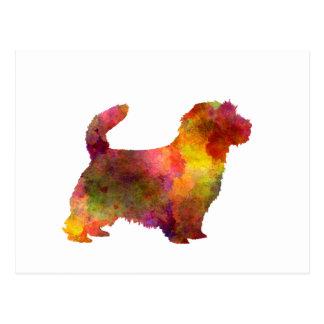 Carte Postale Norfolk Terrier in watercolor