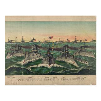 Carte Postale Nos flottes victorieuses dans le Cubain arrose