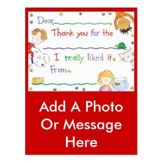 Carte Postale Note de Merci
