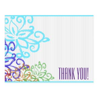 Carte Postale Note de Merci - double face