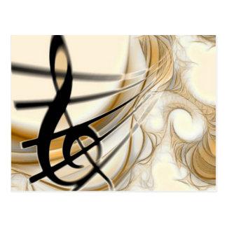 Carte Postale Note musicale élégante