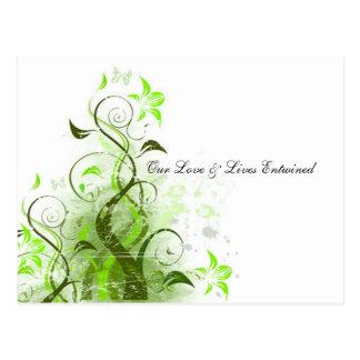 Carte Postale Notre amour et vies ont enlacé la vigne RSVP