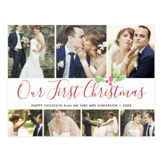 Carte Postale Notre collage des vacances marié premier par Noël