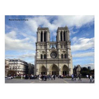 Carte Postale Notre Dame à Paris