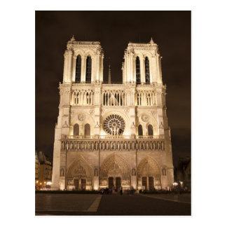 Carte Postale Notre Dame la nuit