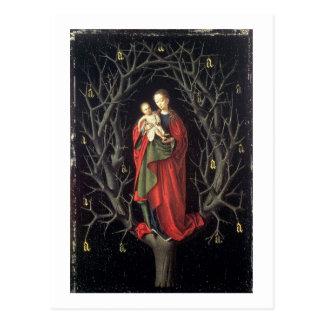 Carte Postale Notre Madame de l'arbre sec c.1450 (huile sur le
