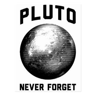 Carte Postale N'oubliez jamais Pluton