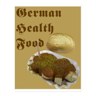 Carte Postale Nourriture biologique allemande (currywurst)