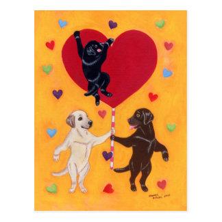 Carte Postale Nous avons une grande peinture de Labradors de