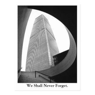 Carte Postale Nous n'oublierons jamais
