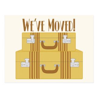 Carte Postale Nous nous sommes déplacés - les valises vintages