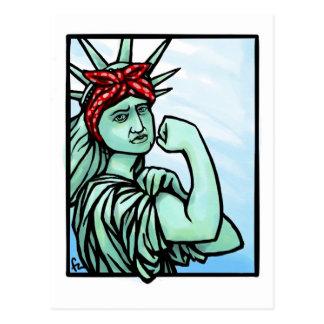 """Carte Postale """"Nous pouvons le faire"""" liberté"""