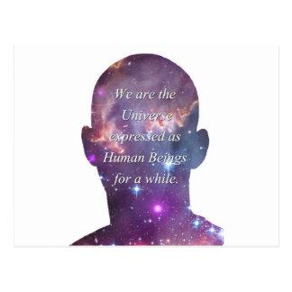 Carte Postale Nous sommes l'univers