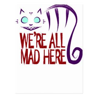 Carte Postale Nous sommes tous fous ici