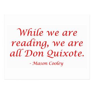 Carte Postale Nous sommes tout le Don don Quichotte