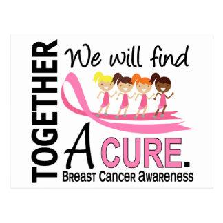 Carte Postale Nous trouverons un cancer du sein de traitement