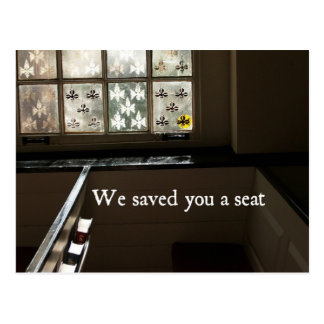 Carte Postale Nous vous avons sauvés un siège