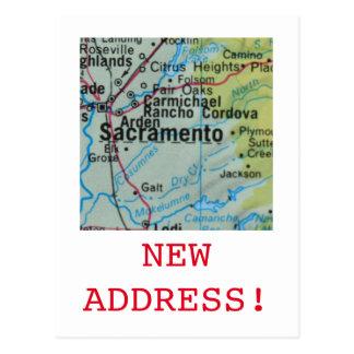 Carte Postale Nouveau faire-part d'adresse de Sacramento