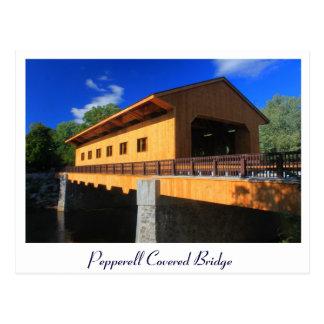 Carte Postale Nouveau pont couvert de Pepperell mA