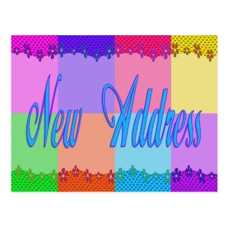 Carte Postale Nouvelle adresse colorée