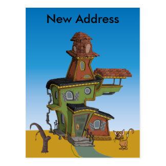 Carte Postale Nouvelle adresse de Chambre laide