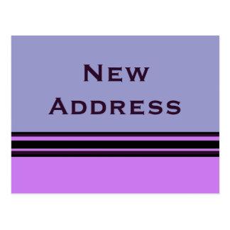 Carte Postale nouvelle adresse de rayures