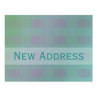 Carte Postale nouvelle adresse turquoise en pastel
