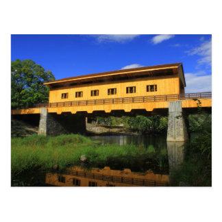 Carte Postale Nouvelle vue de rivière de pont couvert de