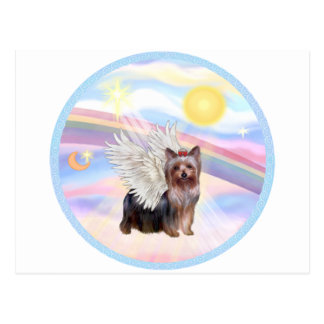Carte Postale Nuages - ange de Yorkshire Terrier (position)