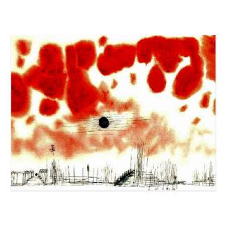Carte Postale Nuages au-dessus de Bor, art de Klee