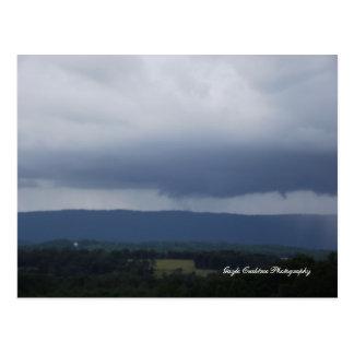 Carte Postale Nuages de tempête au-dessus d'Etowah, Tennessee